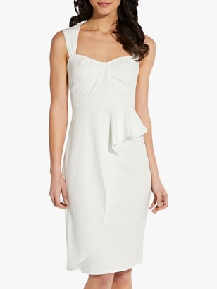 Adrianna Papell Crepe Sheath Dress, Ivory