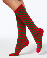 Charter Club Women's Lurex® Metallic Striped Knee-High Socks, Created For Macy's