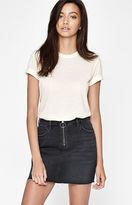 PacSun Black Zip Front Denim Skirt