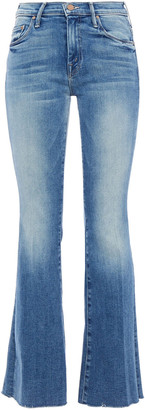 Mother The Weekender Faded High-rise Flared Jeans