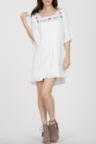 En Creme Embroidered White Boho Dress