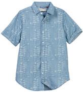Sovereign Code Bent Button Front Shirt (Big Boys)