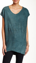 Muu Baa Muubaa Shelby Genuine Suede T-Shirt Tunic