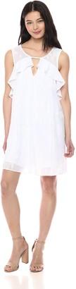 BCBGeneration Women's Front Cutout Ruffle Dress