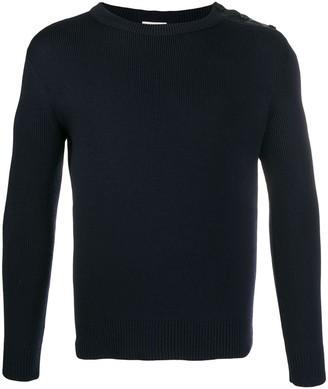 Saint Laurent ribbed round neck sweater
