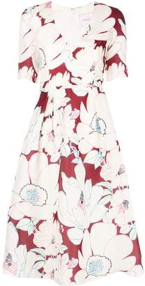 Carolina Herrera V-neck print dress