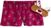 Jenni by Jennifer Moore Printed Boxer Pajama Shorts and Eye Mask Set, Only at Macy's