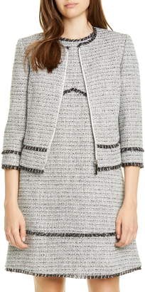 Ted Baker Aleice Contrast Panel Boucle Jacket