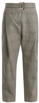 Ellery Kool Aid High-rise Checked Wool Trousers - Womens - Black White