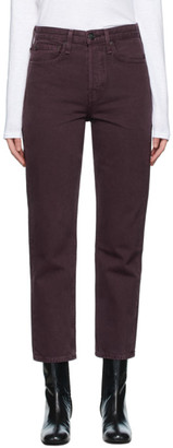 Rag & Bone Purple Maya High-Rise Slim Jeans