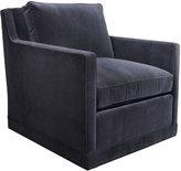 Horchow Nina St. Clair Navy Velvet Swivel Chair