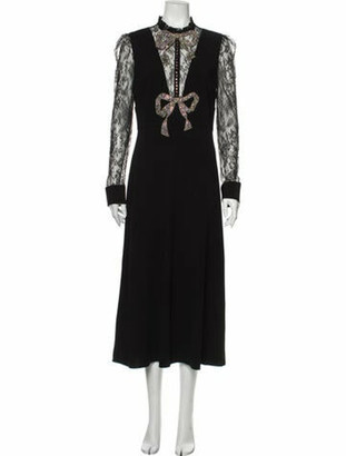 Gucci 2017 Long Dress Black