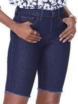 NYDJ Petite Briella Frayed-Hem Denim Shorts