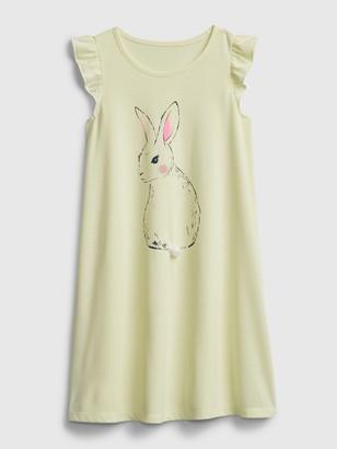 Gap Kids Recycled Bunny PJ Dress