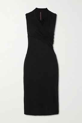 Rick Owens Abito Gathered Jersey Dress - Black