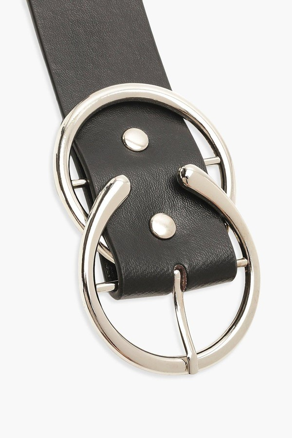 Thumbnail for your product : boohoo Open O-Ring Double Buckle Boyfriend Belt