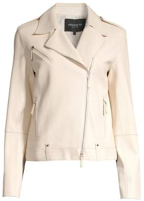 Lafayette 148 New York Bernice Leather Moto Jacket