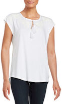 Lord & Taylor Embroidered Blouse