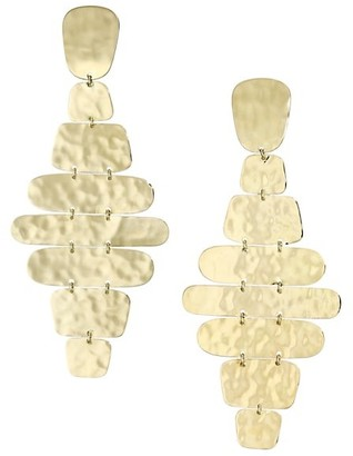 Ippolita Classico 18K Yellow Gold Crinkle Cascade Clip-On Earrings