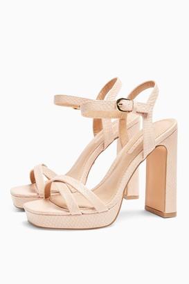 Topshop Womens Sienna Pink Platform Heels - Pink