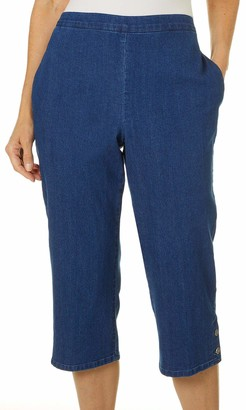 Alfred Dunner Women's Plus Size Denim Capri 20W