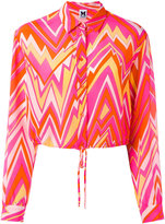 M Missoni geometric print shirt - women - Silk - 38