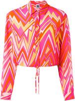 M Missoni geometric print shirt - women - Silk - 40