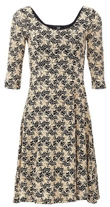 Dorothy Perkins Womens *Izabel London Beige Lace Skater Dress