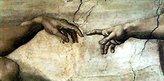 Michelangelo 1art1 Posters Buonarroti Poster Art Print - Creazione Adamo (particolare) (28 x 20 inches)