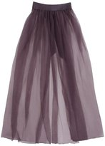Fantasy Sexy Plus Size Full Figure Tulle Fluttery Maxi Skirt