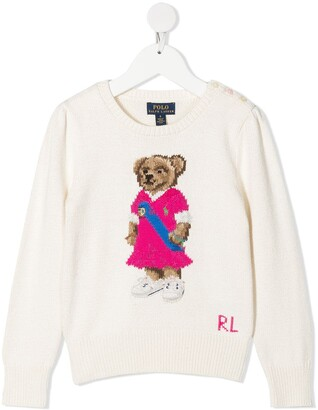 Ralph Lauren Kids Logo Teddy Embroidered Jumper
