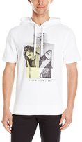 Calvin Klein Jeans Men's Graphic Girls Short Sleeve Hoodie, White
