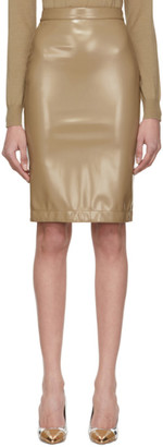 Burberry Beige Coated Skirt