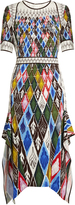 Peter Pilotto Argyle-print cady midi dress