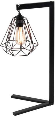 Brimfield & May Contemporary Iron Table Lamp w/ Diamond-Shaped Shade, Set of 2, Black