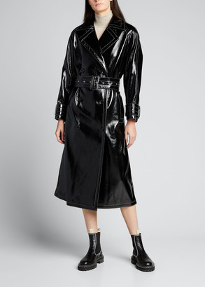 Stand Studio Shelby Show Faux-Leather Trench Coat