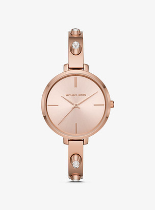 Michael Kors Jaryn Studded Rose Gold-Tone Watch