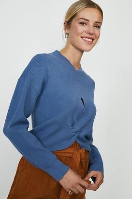 Coast Twist Front Knitted Jumper