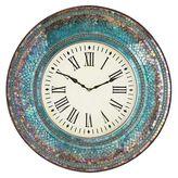 "Pier 1 Imports Midnight Mosaic 24"" Wall Clock"
