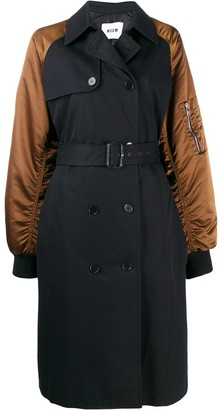 MSGM double-breasting bomber-style coat