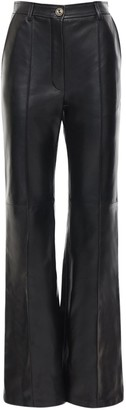 Gucci High Waist Flared Leather Pants