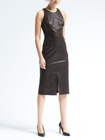 Banana Republic Sleeveless Leather Midi Dress