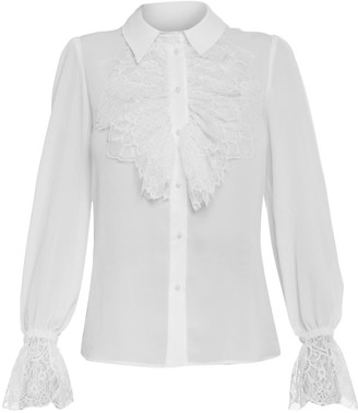 Cliché Reborn Shirt With Lace Frill Sleeves & Neck
