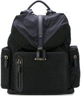 Ermenegildo Zegna woven detail backpack