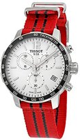 Tissot Men's 'Quickster' Swiss Quartz Stainless Steel and Nylon Watch, Color:Red (Model: T0954171703704)