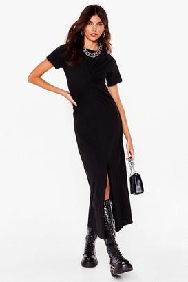 Nasty Gal Womens Oops You Twist Tee Maxi Dress - Black