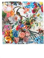 Christian Lacroix Women's Flower Utopia Silk Square Scarf