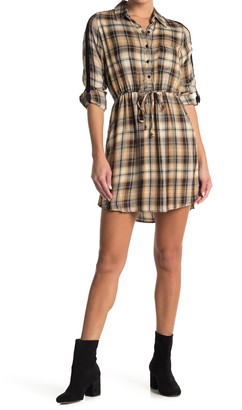 Angie Plaid Shirt Dress