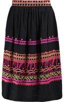 Temperley London Amity Embroidered Cotton Midi Skirt