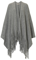 Betty Barclay Knitted Poncho, Light Grey Melange